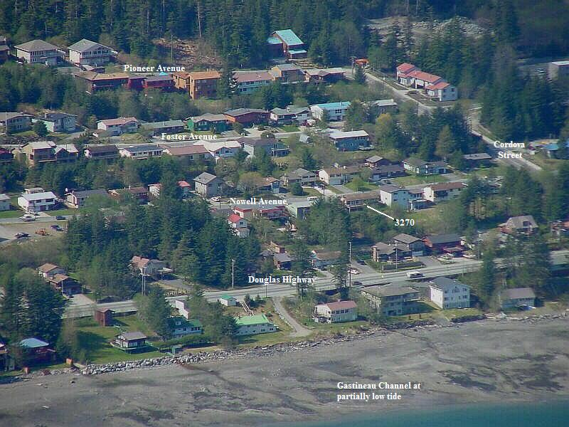 Close-up view of West Juneau, Alaska
